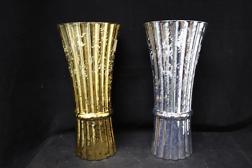 "12"" Mercury Rose Glass Vase"