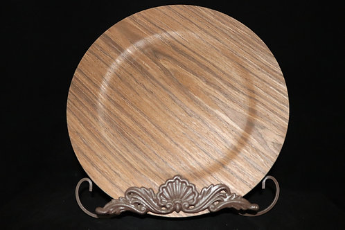 """Wood Finished Charger Plate 13"""""""