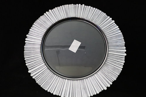 """Glass Edge Color Charger Plate 13"""""""