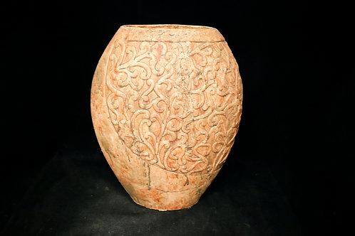 Antique Tall Ceramic Pot