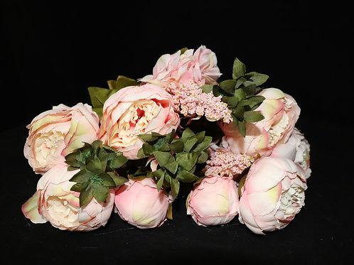 Pink3 Peony Silk Flowers Bouquet