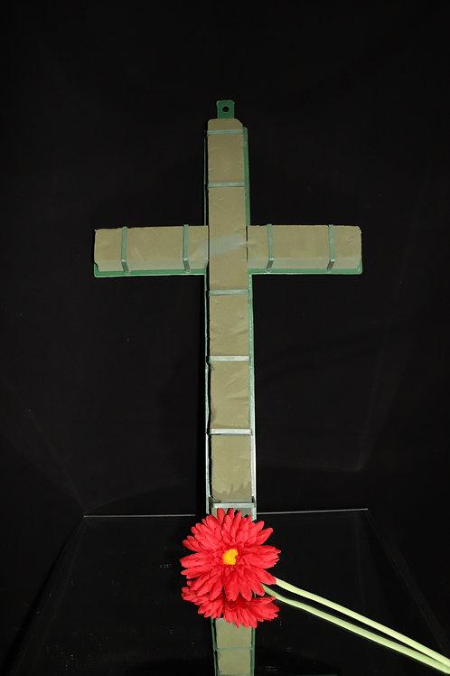 "24"" Oasis Cross w/Plastic base"