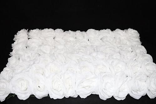 White Fabric Rose Panel