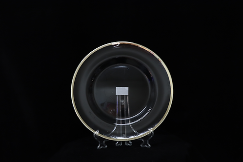 Glass Champagne Rim Charger Plate