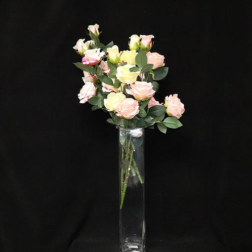 "4x20"" Tall Square glass vase"