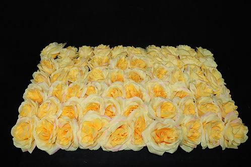 Yellow Fabric Rose Panel