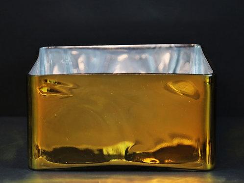 "8x4"" Gold Short Square vase"