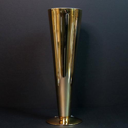"""20"""" Gold Trumpet-Cone vase"""