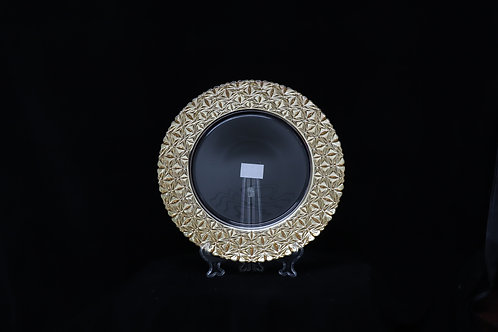 Glass Gold Electroplated Charger Plate