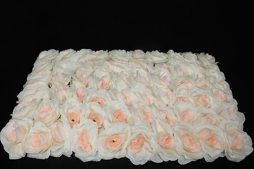 Champagne Fabric Rose Panel