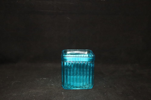 """3x3"""" Ribbed Cube Candle Holder"""