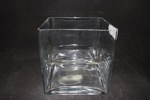 """8x8x8"""" Square glass vase"""