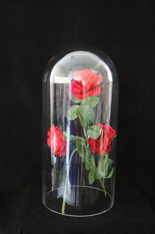 "8x16"" Glass Dome Vase"