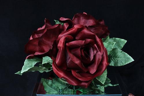 Burgundy Rose Bouquet w/ ring base