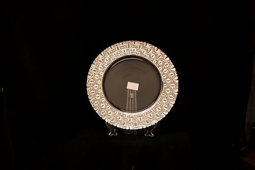 Glass Rose Gold Electroplated Charger Plate