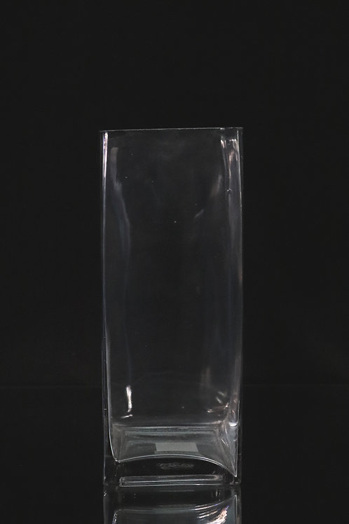 "5x12"" Tall Square glass vase"