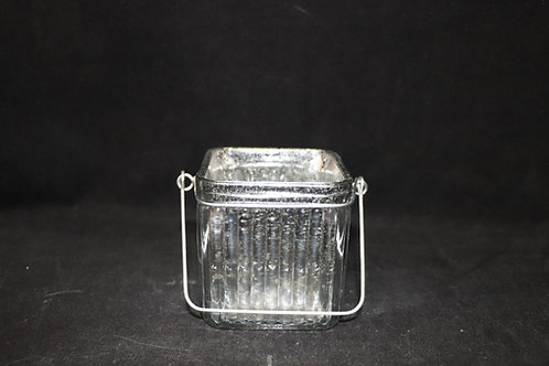"3x3"" Ribbed Cube Candle Holder"