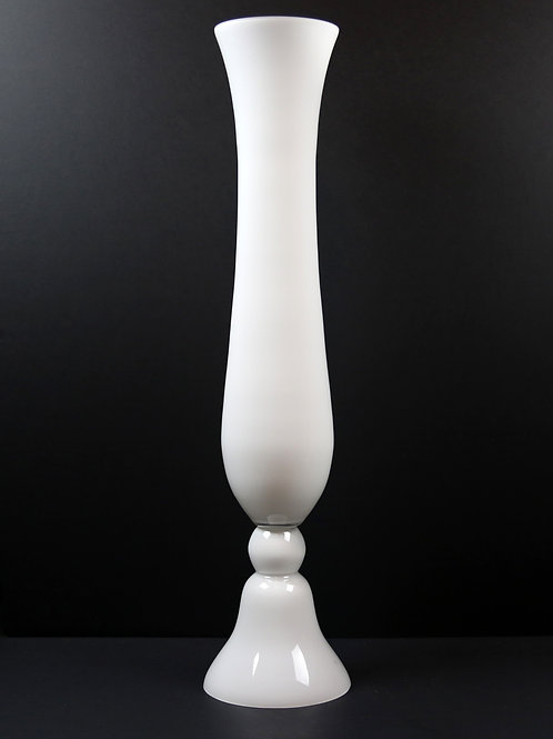 White Glass Bell Trumpet