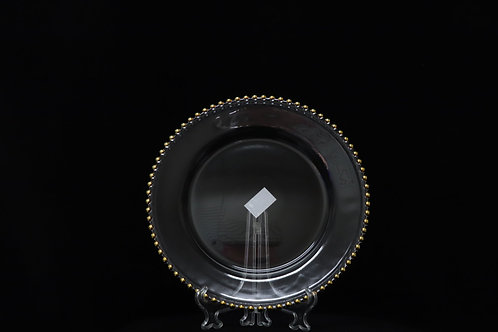 """Heavy Glass Charger Plate 13"""" GBD"""