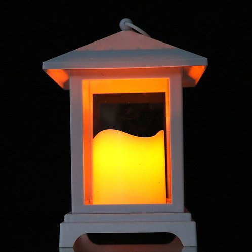 Lantern with LED Pillar Candle HT909