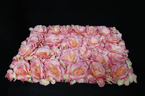 Dark Pink Rose and Hydrangea Panel