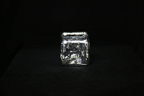 "Mercury Silver Square 4"" 12pcs"