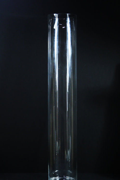 "7x36"" Glass Tall Cylinder vase"