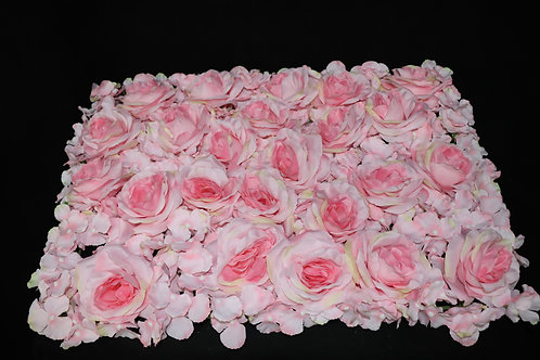Pink Rose and Hydrangea Panel