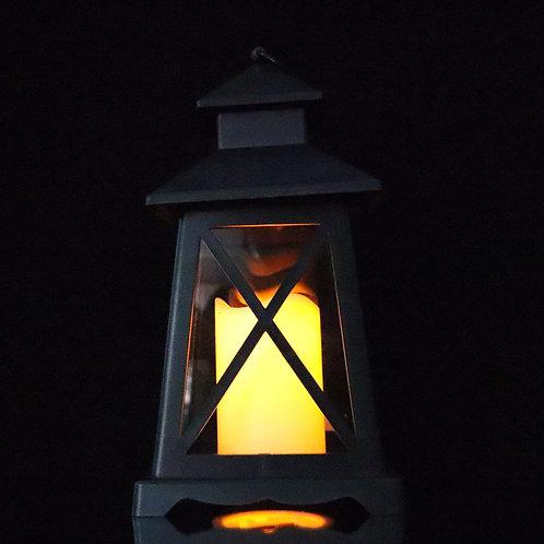 Lantern with LED Candle HT908