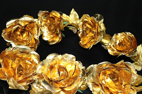 Metallic Rose Garland SF6505