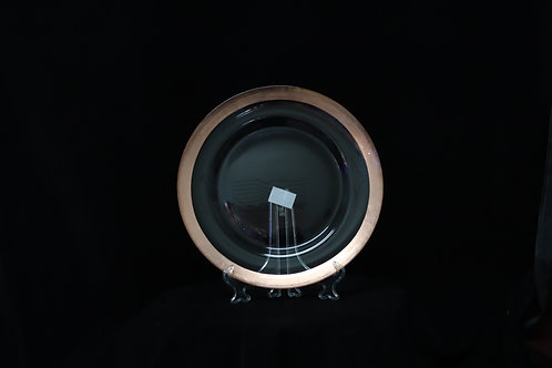 Glass Rose Gold Foil Rim Charger Plate