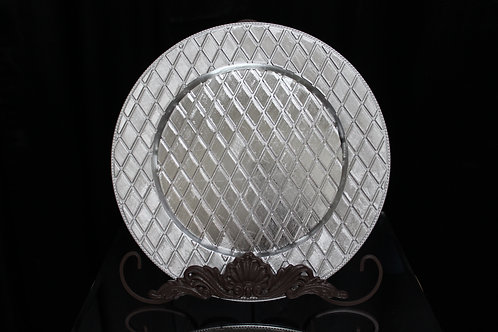 "Charger Plate with Diamond Texture 13"" #F133"