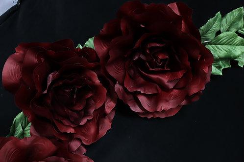 Rose Garland - Burgundy