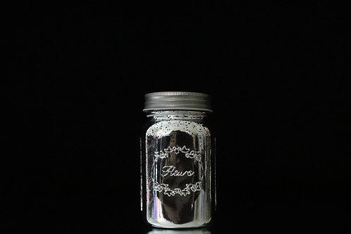 """7"""" Silver Mercury Mason Jar with Lid"""