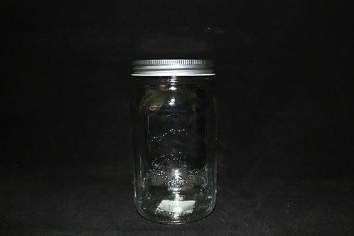 """7"""" Clear Mason Jar with Lid"""