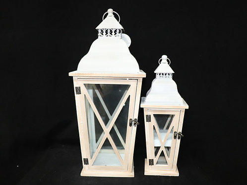 Lt Brown Vintage Lantern Set