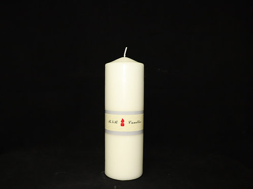 "3x10"" Ivory Pillar Candle"