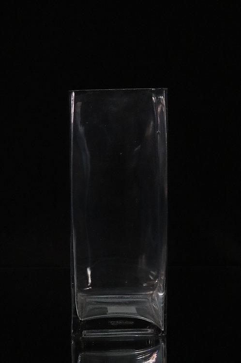 "4x10"" Tall Square glass vase"