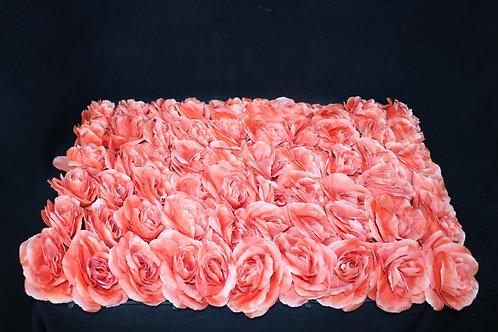 Dark Orange Fabric Rose  Panel