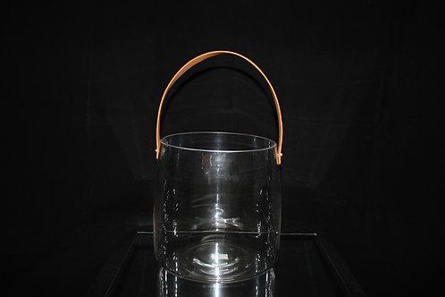 Unique Glass Vase  w/Strap
