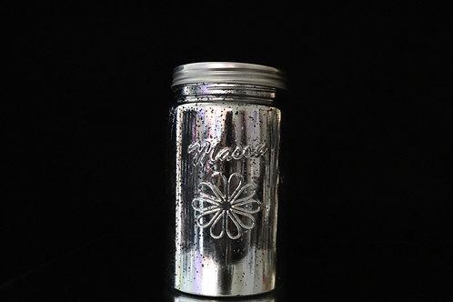 """4x8"""" Silver Mason Jar with Lid"""