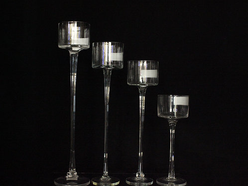 Clear Wedding Candle Holder 0824