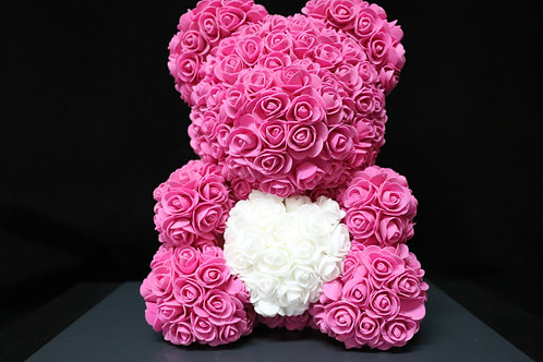37cm Foam Flower Teddy Bear
