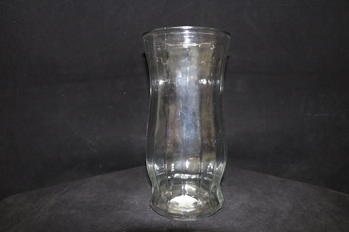 Clear Rose Glass Vase 4.5x9.75""