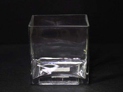 """5x5x5"""" Square glass vase"""
