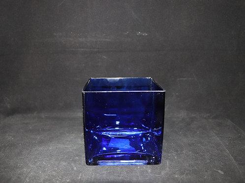 """5x5"""" Hanblown Square Vase"""