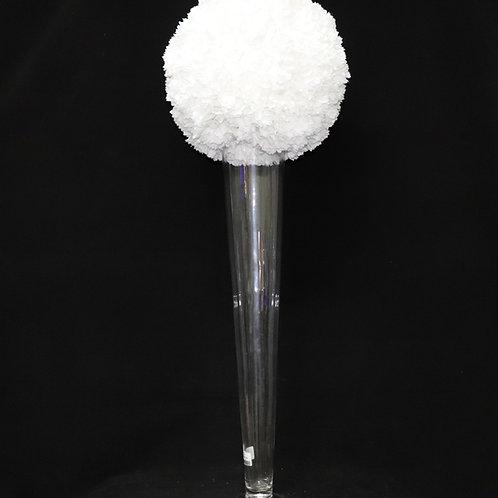 """28"""" Glass Trumpet-Cone vase"""