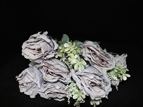 Purple Silk Roses Bouquet