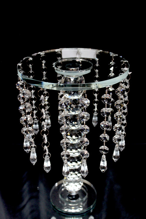 Crystal Cake Stand 7x12""