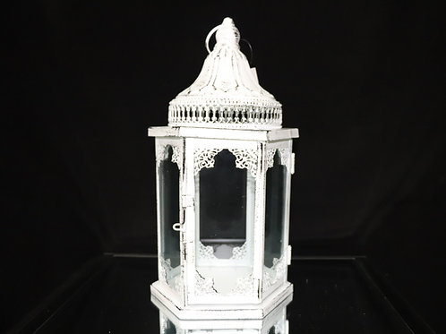 Hexagon Metal Lantern 15""